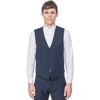 textil Hombre Chaquetas de punto Antony Morato MMVE00087 FA650176 Azul