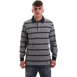 textil Hombre Polos manga larga Navigare NV30027 Gris