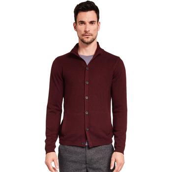 textil Hombre Chaquetas de punto Gaudi 921FU53019 Rojo