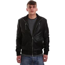 textil Hombre Chaquetas de cuero / Polipiel Gaudi 921BU38001 Negro