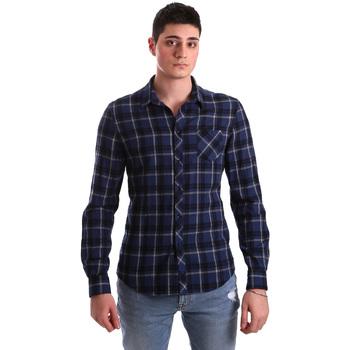 textil Hombre Camisas manga larga Gaudi 921BU45006 Azul