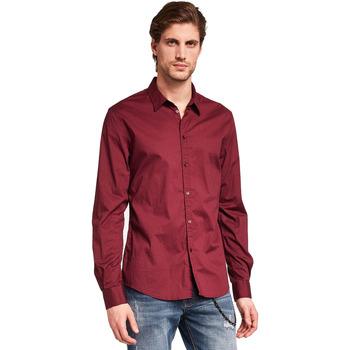 textil Hombre Camisas manga larga Gaudi 921BU45008 Rojo