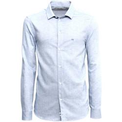 textil Hombre Camisas manga larga NeroGiardini A973180U Azul