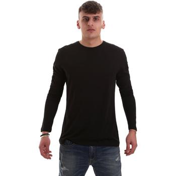 textil Hombre Camisetas manga larga Antony Morato MMKL00264 FA100066 Negro