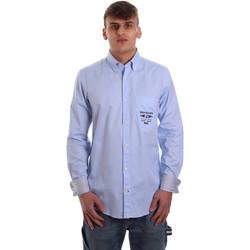 textil Hombre Camisas manga larga Navigare NV91061 BD Azul