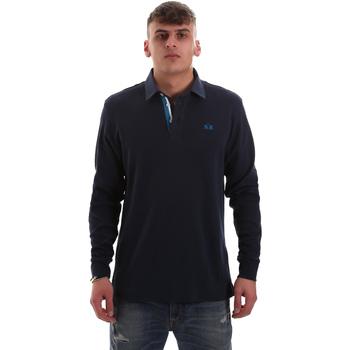 textil Hombre Polos manga larga La Martina OMP007 JS169 Azul