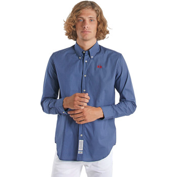 textil Hombre Camisas manga larga La Martina OMC015 PP461 Azul