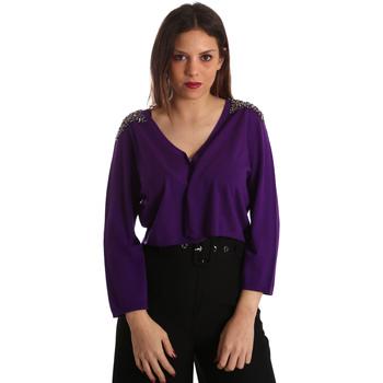 textil Mujer Chaquetas de punto Gaudi 921FD53018 Violeta