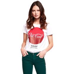 textil Mujer Camisetas manga corta Gaudi 921BD64047 Blanco