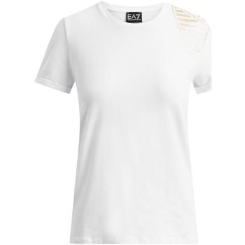 textil Mujer Camisetas manga corta Ea7 Emporio Armani 6GTT07 TJ12Z Blanco
