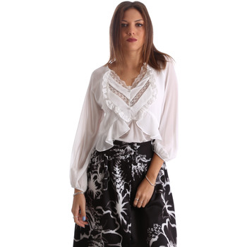 textil Mujer Camisas Fracomina FR19FMFLORRIE Blanco