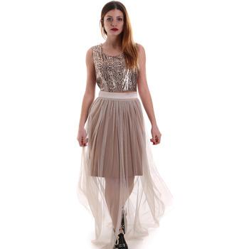 textil Mujer Vestidos largos Fracomina FR19FM518 Beige