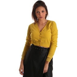 textil Mujer Chaquetas de punto Fracomina FR19FM823 Amarillo