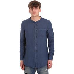 textil Hombre Camisas manga larga Gaudi 011BU45001 Azul