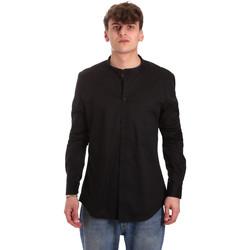 textil Hombre Camisas manga larga Gaudi 011BU45013 Negro