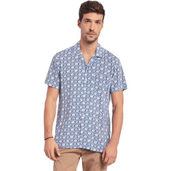 textil Hombre Camisas manga corta Gaudi 011BU45046 Azul