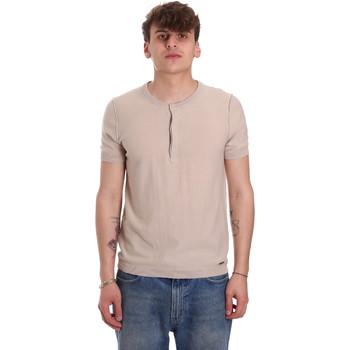 textil Hombre Camisetas manga corta Gaudi 011BU53007 Beige