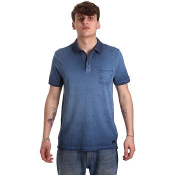 textil Hombre Polos manga corta Gaudi 011BU64017 Azul