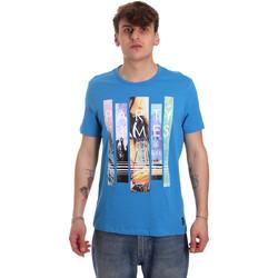 textil Hombre Camisetas manga corta Gaudi 011BU64028 Azul