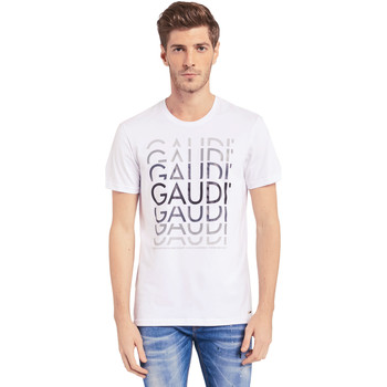 textil Hombre Camisetas manga corta Gaudi 011BU64068 Blanco