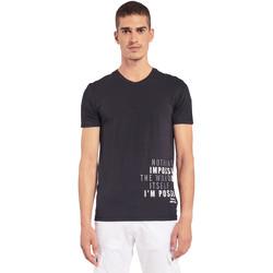 textil Hombre Camisetas manga corta Gaudi 011BU64071 Negro