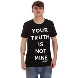 textil Hombre Camisetas manga corta Gaudi 011BU64107 Negro