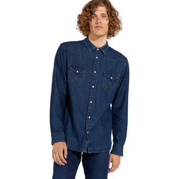textil Hombre Camisas manga larga Wrangler W5MSLW301 Azul