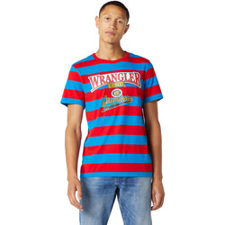textil Hombre Camisetas manga corta Wrangler W7E1FKXKL Azul