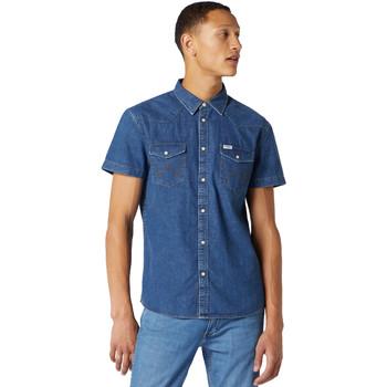 textil Hombre Camisas manga corta Wrangler W5J05D50B Azul