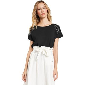 textil Mujer Camisetas manga corta Gaudi 011FD64022 Negro
