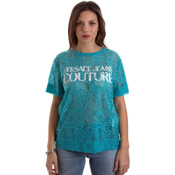 textil Mujer Camisetas manga corta Versace B2HVB70804748207 Azul