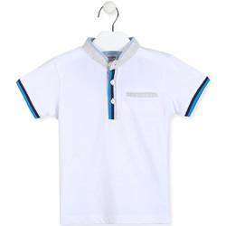 textil Niño Polos manga corta Losan 015-1791AL Blanco