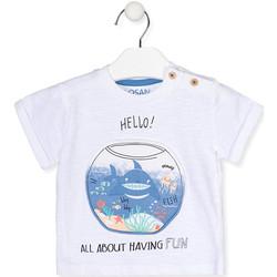 textil Niña Camisetas manga corta Losan 017-1000AL Blanco