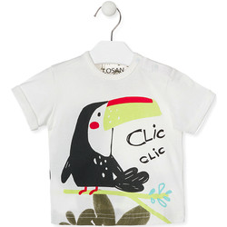 textil Niños Camisetas manga corta Losan 017-1012AL Blanco