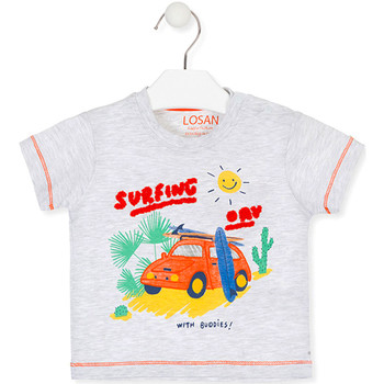 textil Niños Camisetas manga corta Losan 017-1015AL Gris
