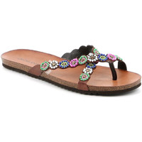 Zapatos Mujer Chanclas Grunland CB2502 Marrón