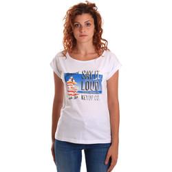 textil Mujer Camisetas manga corta Key Up 5D72S 0001 Blanco