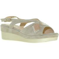 Zapatos Mujer Sandalias Melluso R70715 Gris