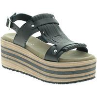 Zapatos Mujer Sandalias Pregunta IBH5804 Negro