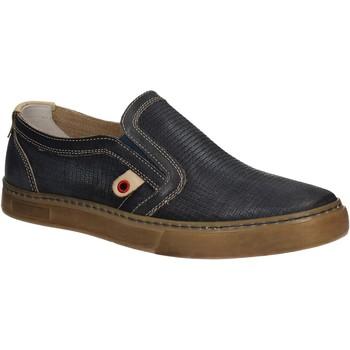 Zapatos Hombre Slip on Café Noir QT121 Azul