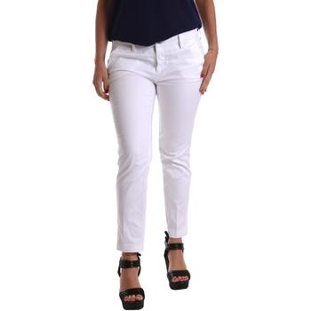 textil Mujer Pantalones chinos Café Noir JP236 Blanco