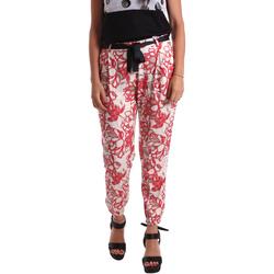 textil Mujer Pantalones chinos Café Noir JP244 Rojo