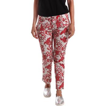 textil Mujer Pantalones chinos Café Noir JP242 Rojo