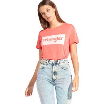 textil Mujer Camisetas manga corta Wrangler W7016D Rojo