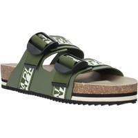 Zapatos Hombre Zuecos (Mules) Napapijri NA4ETH Verde