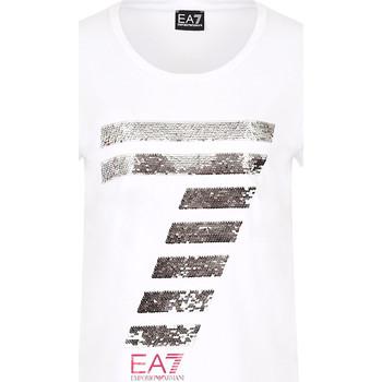 textil Mujer Camisetas manga corta Ea7 Emporio Armani 3HTT41 TJ12Z Blanco