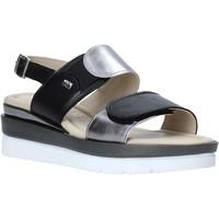 Zapatos Mujer Sandalias Valleverde 32141 Negro