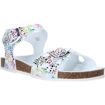 Zapatos Niña Sandalias Grunland SB1502 Blanco