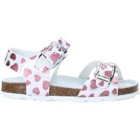 Zapatos Niña Sandalias Grunland SB1535 Blanco