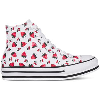 Zapatos Niña Zapatillas altas Converse 668016C Blanco
